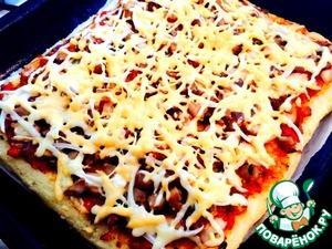 Рецепт Оригинальная пицца на рисовом тесте