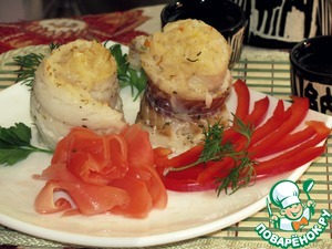 Рецепт Треска, фаршированная рисом
