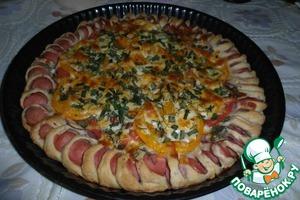 """Рецепт Пицца """"Сосиска тебе в бок"""""""