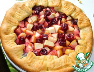 Как готовить Галета с яблоками и вишней вкусный рецепт приготовления с фото