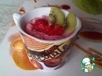 Творожный десерт с клубникой ингредиенты