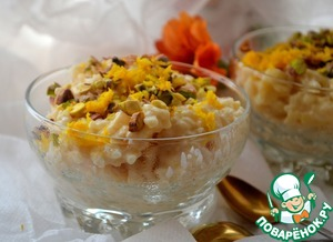 Рецепт Апельсиновый пудинг из риса