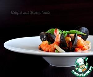 Рецепт Паэлья с морепродуктами и курицей (Shellfish and Chicken Paella)