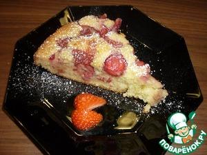 Рецепт Клубничный пирог с ванилью