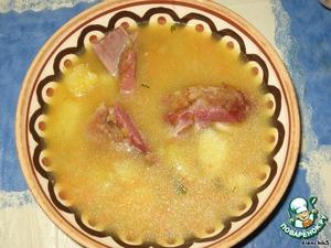 Суп гороховый с копчеными ребрышками простой рецепт с фото