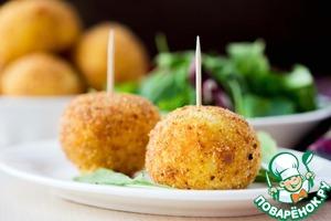 Рецепт Классические аранчини (рисовые шарики с начинкой)