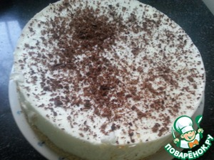 Рецепт Желейный торт с красным виноградом и сметаной