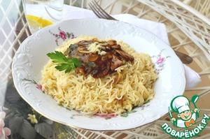 Рецепт Лёгкий грибной соус к макаронам