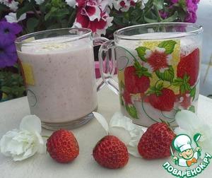Рецепт Клубничный смузи с овсянкой