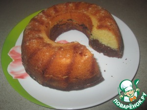 Рецепт Двухцветный кекс