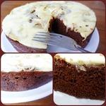Шоколадно-кофейный кейк с соленым конфитюром и сыром