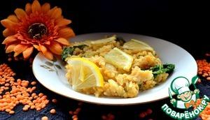 Рецепт Паэлья со шпинатом и чечевицей