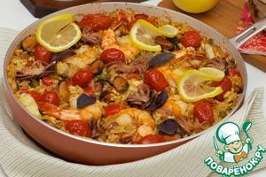 Как готовить Паэлья с морепродуктами вкусный рецепт с фотографиями пошагово