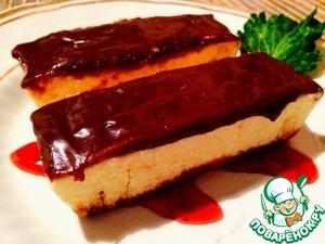 Рецепт Домашний сливочный пломбир с шоколадным топпингом