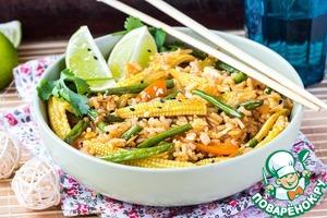 Рецепт Жареный рис с овощами и яйцом