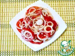 Рецепт Быстрые помидоры в остром медовом маринаде