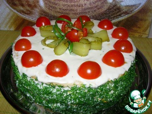 Салат крабовые палочки фото