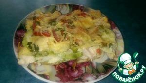 """Рецепт Овощная запеканка с кабачком и куриным филе """"А-ля пицца"""""""