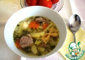 Рецепт Суп с печеночными клецками