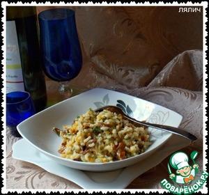 Рецепт Ризотто с лисичками (Risotto de Chanterelles )