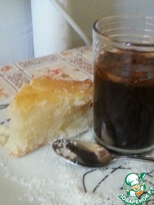 """Рецепт Сладкий манный пирог """" ариса"""""""