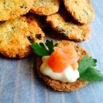 Суперхрустящее печенье с грибами и сыром