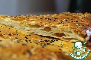 Рецепт Слоеная лепешка с сыром