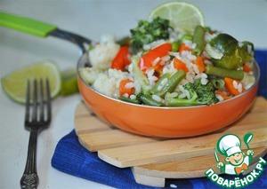 Рецепт Острая паэлья с овощным миксом