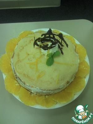 Рецепт Блинный торт с апельсиновым ликером (Grand marnier)