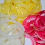 """Маринованный лук """"Три цвета"""""""