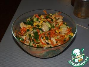 Готовим простой рецепт приготовления с фотографиями Салат оригинальный с корейской морковью