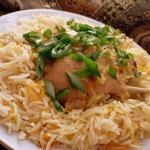 Кокосовая курочка карри с апельсиновым рисом