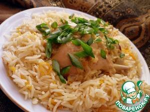 Рецепт Кокосовая курочка карри с апельсиновым рисом