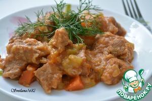 Рецепт Кабачки с мясом в мультиварке