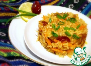 Рецепт Плов из коричневого риса с финиками и морковью