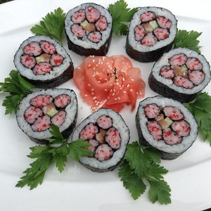 Рецепт Кадзари-суши «Розовая хризантема»