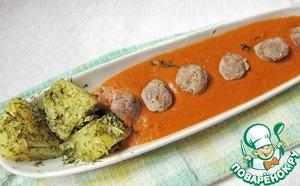 Рецепт Колбаски с томатным соусом и картофелем