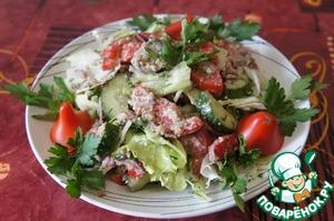 "Рецепт: Салат из свежих овощей ""Глехурад"""