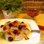 Полтавские вареники с вишней и соус