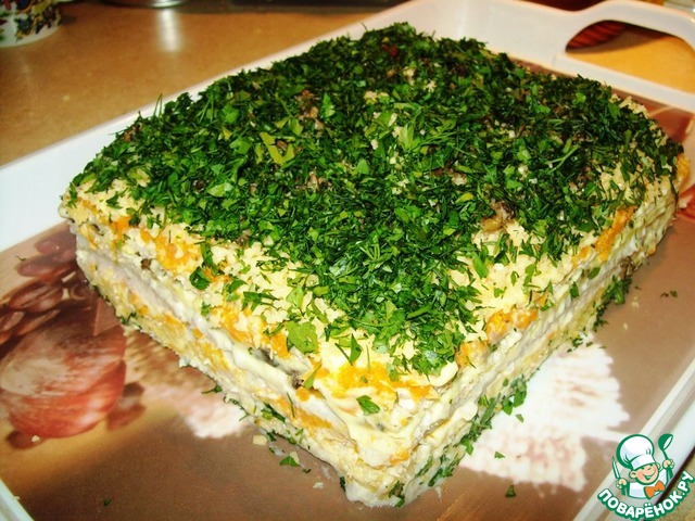 кулинария рецепты с видео фото фарш свафельным коржом