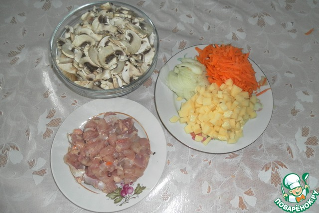 Рецепт сырный суп с грибами пошагово