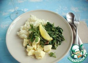 Рецепт Ризотто с шпинатом и рукколой