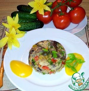 Рецепт Ризотто с курицей, грибами и овощами
