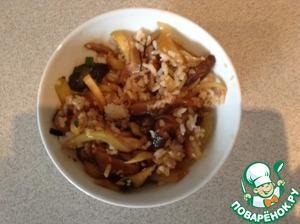 Как готовить простой рецепт приготовления с фото Рис с грибами шиитаке