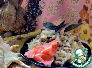 Рецепт Тайский жареный рис со свининой и базиликом