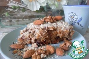 Рецепт Геркулесовый пирог с яблоками и финиками