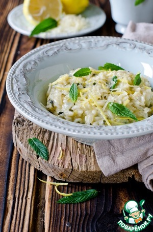 Рецепт Лимонно-мятное ризотто