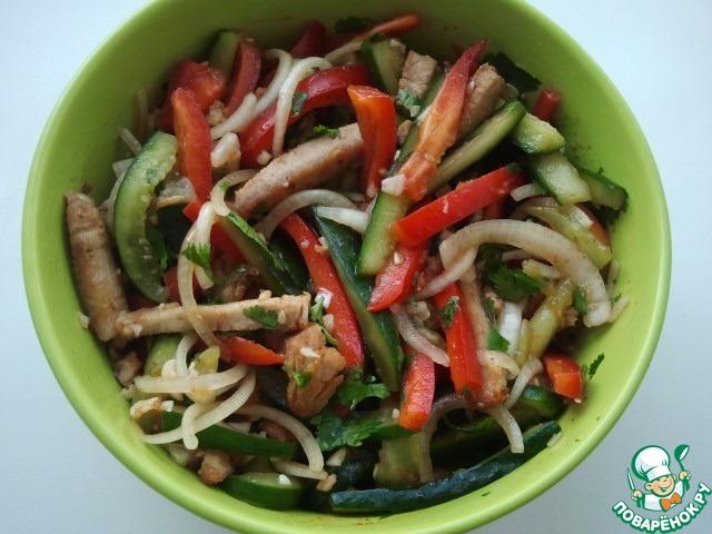 Рецепт говядина с огурцом по-китайски рецепт