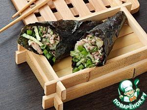 Рецепт Кулечки темаки с тунцом и овощами