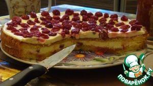 Рецепт Вкусный бисквитный торт